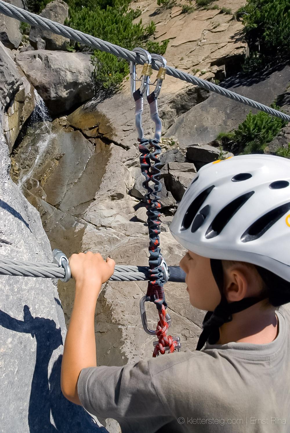 Imster Wasserfall-Klettersteig, Hüttenklettersteig am Muttekopf