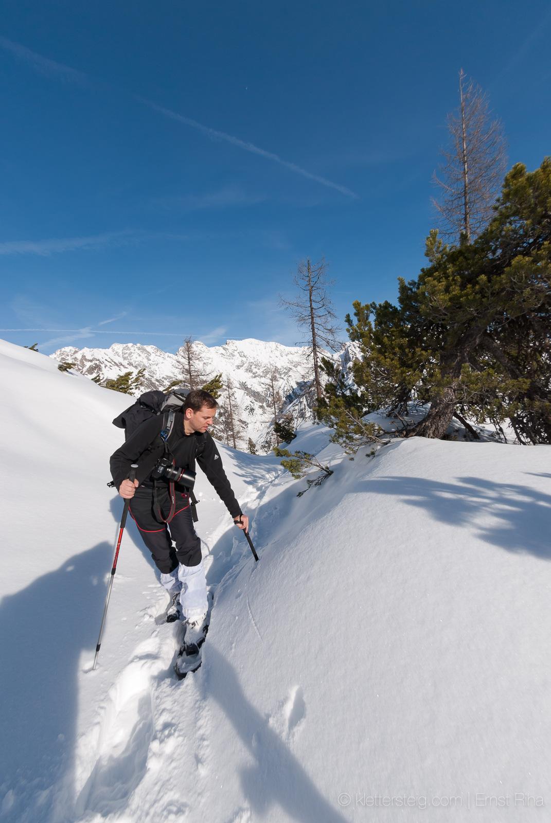 Fallergrat, Arzeinkopf, Schneeschuhwanderung